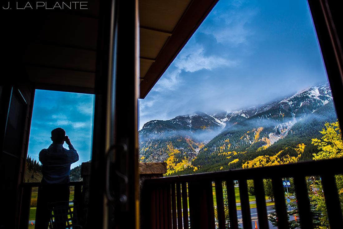 Fall Copper Mountain Wedding | Snow on mountains in fall | Colorado Destination Wedding Photographer | J La Plante Photo