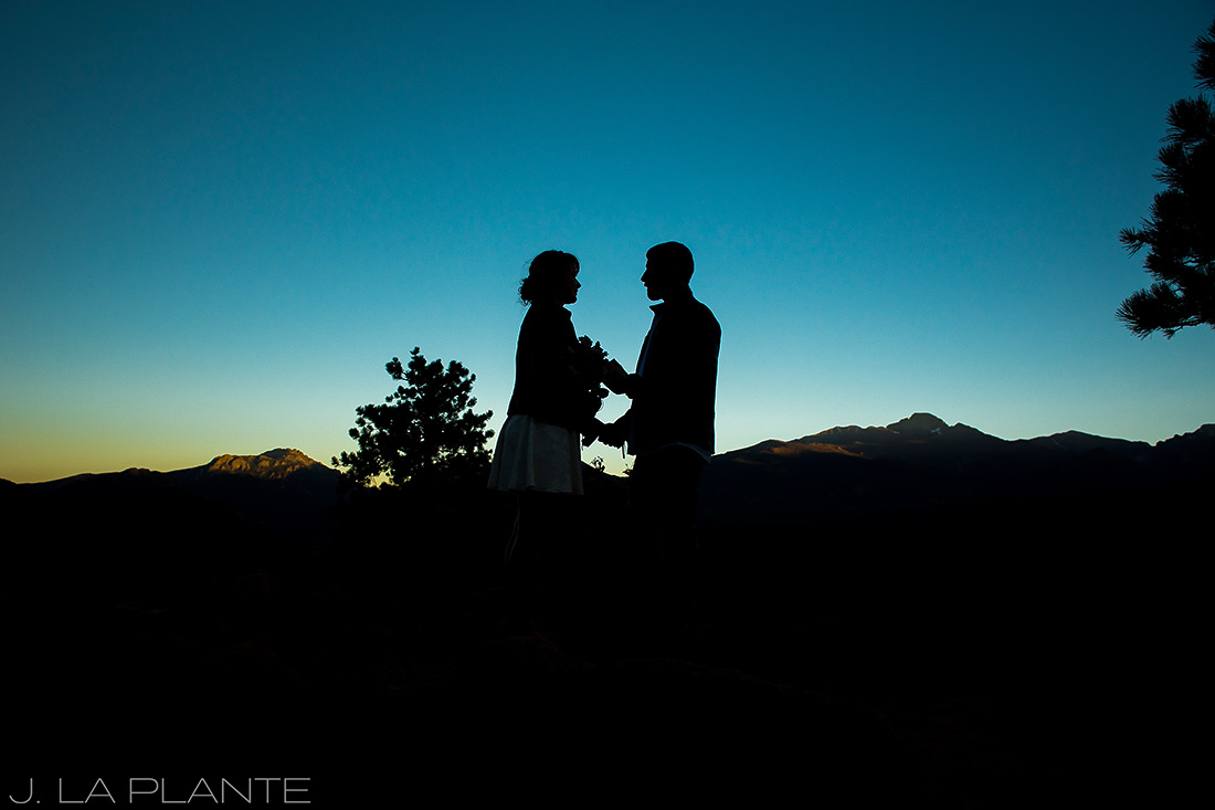 Rocky Mountain National Park Elopement | Elopement ceremony | Colorado Elopement Photographer | J La Plante Photo