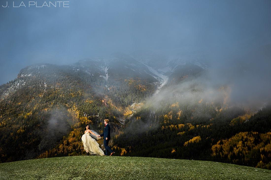 Fall Copper Mountain Wedding | Bride and groom portrait | Colorado Destination Wedding Photographer | J La Plante Photo