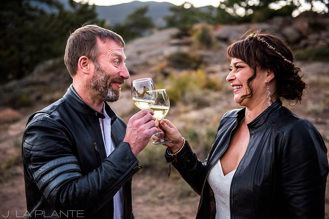 Rocky Mountain National Park Elopement | Champagne toast | Colorado Elopement Photographer | J La Plante Photo