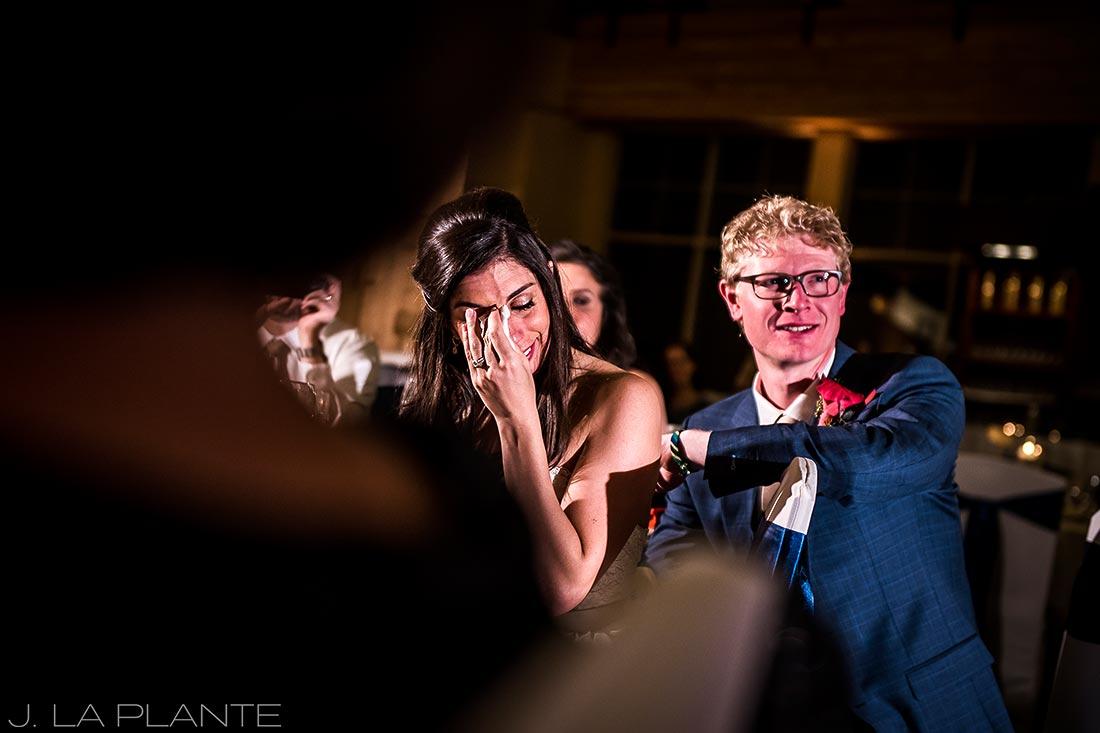 Fall Copper Mountain Wedding | Father of the bride toast | Colorado Destination Wedding Photographer | J La Plante Photo