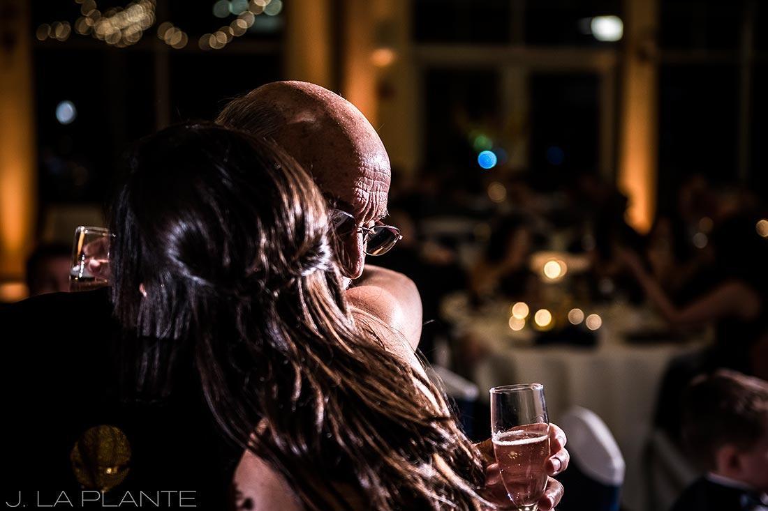 Fall Copper Mountain Wedding | Bride hugging father | Colorado Destination Wedding Photographer | J La Plante Photo