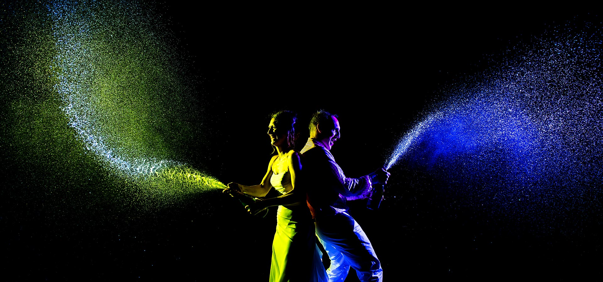 Bride and Groom Popping Bottles | Chautauqua Dining Hall Wedding | Boulder Wedding Photographer | J. La Plante Photo