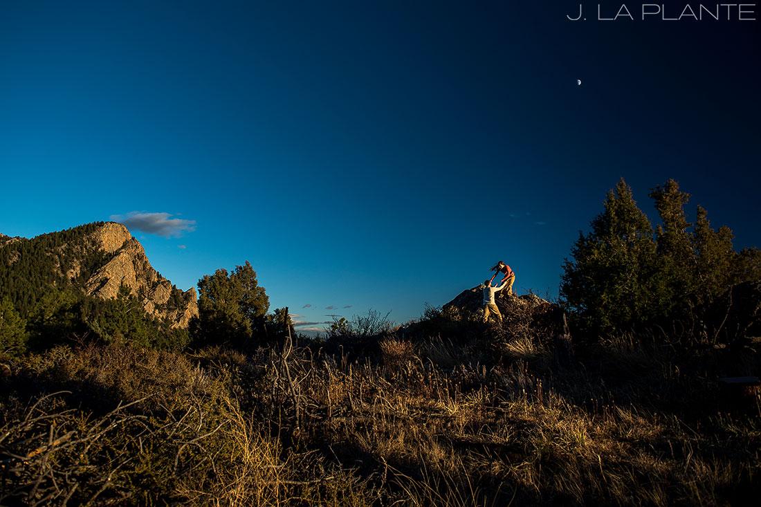Colorado Mountain Engagement | Hiking engagement | Estes Park engagement photography | J La Plante Photo