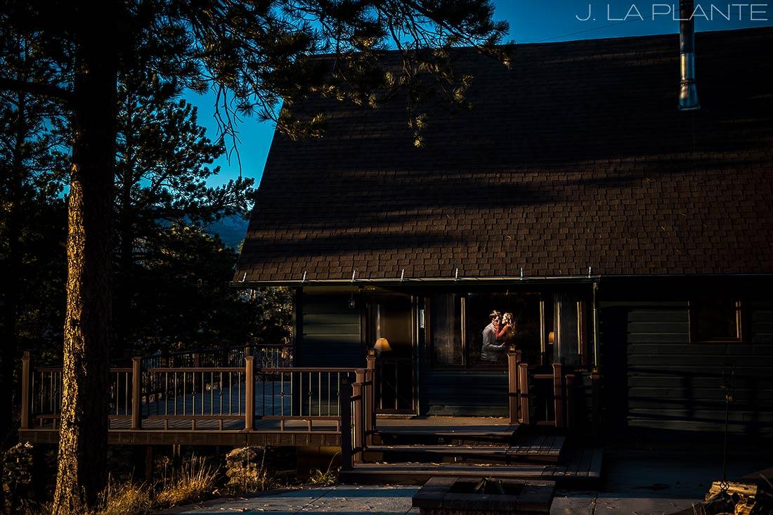 Colorado Mountain Engagement | Cabin engagement | Estes Park engagement photography | J La Plante Photo