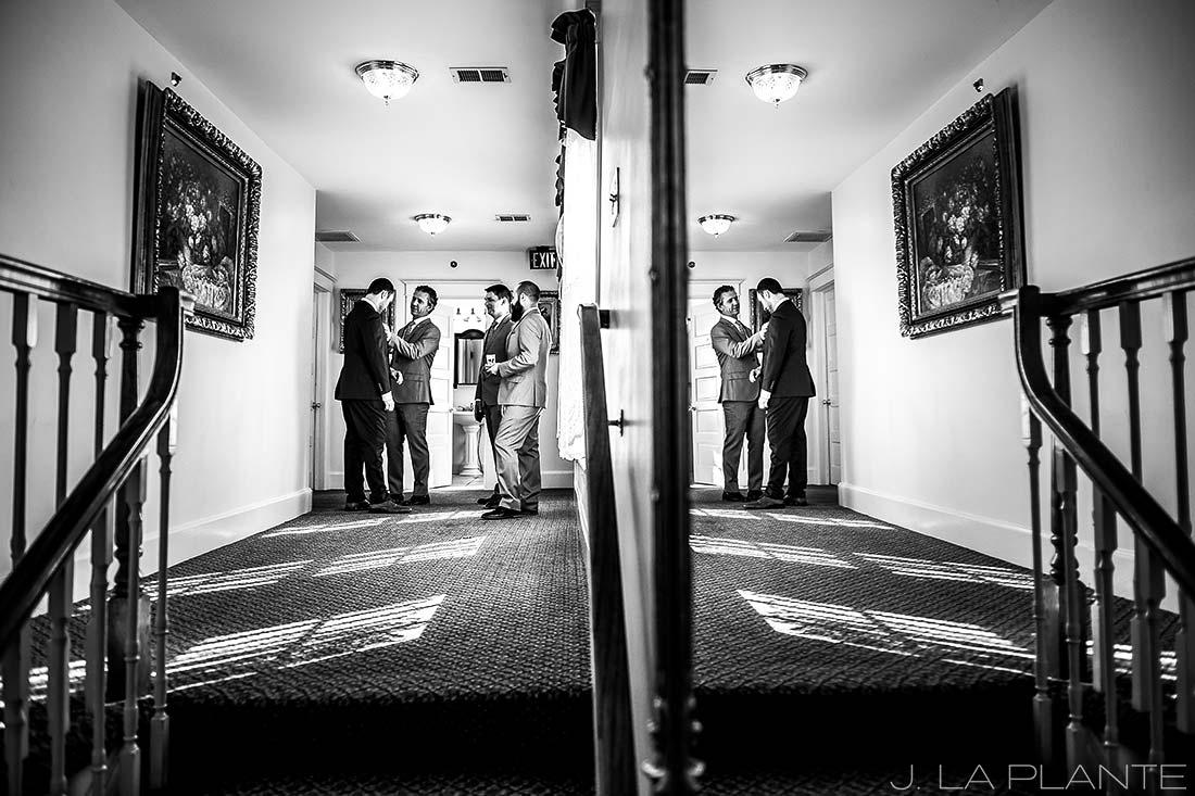 Willow Ridge Manor Wedding | Groomsmen getting ready | Denver wedding photographer | J La Plante Photo