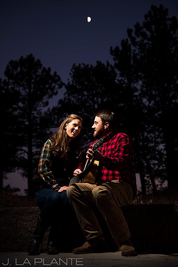 Colorado Mountain Engagement | Bride and groom singing | Colorado engagement photography | J La Plante Photo