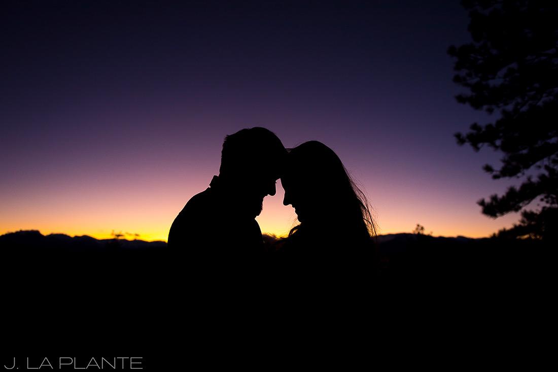 Colorado Mountain Engagement | Sunset engagement photo | Estes Park wedding photography | J La Plante Photo
