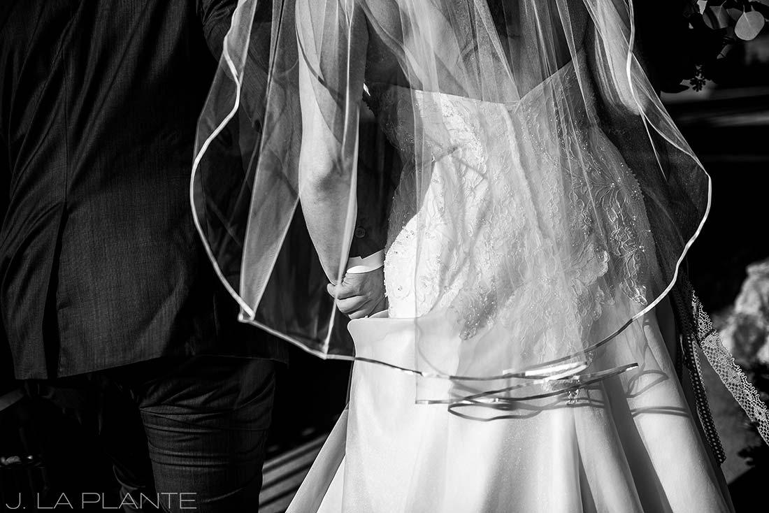 Willow Ridge Manor Wedding | Bride and groom after ceremony | Denver wedding photographer | J La Plante Photo