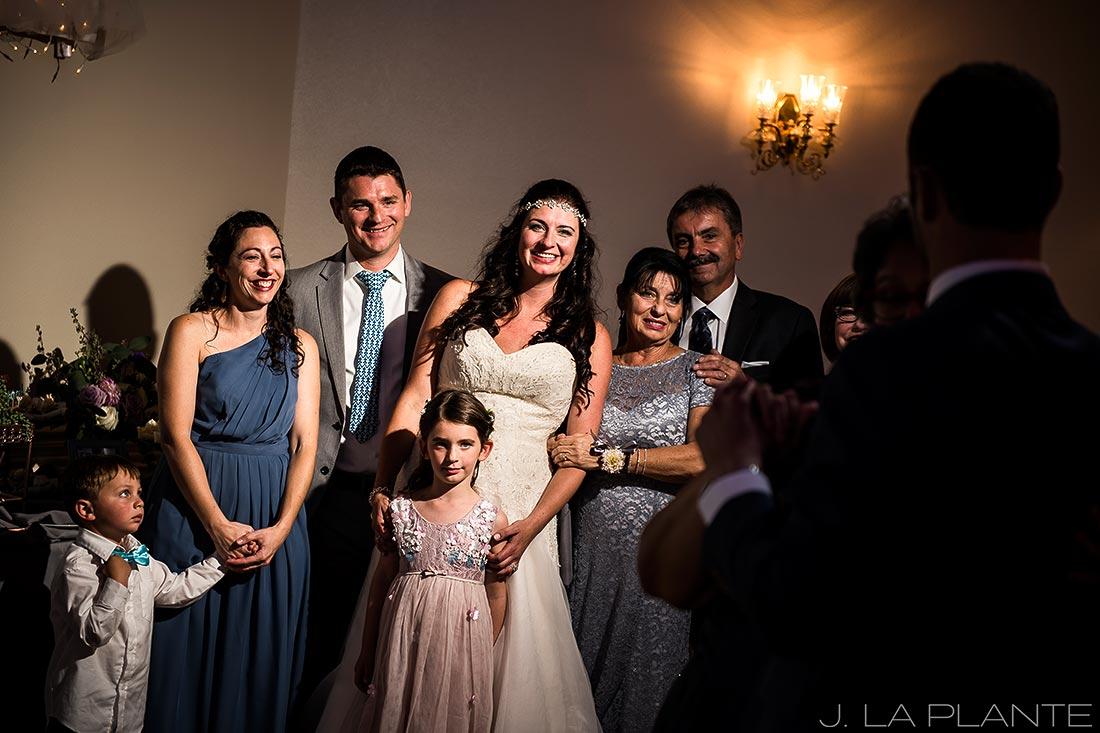 Willow Ridge Manor Wedding | Bride watching mother son dance | Denver wedding photographer | J La Plante Photo