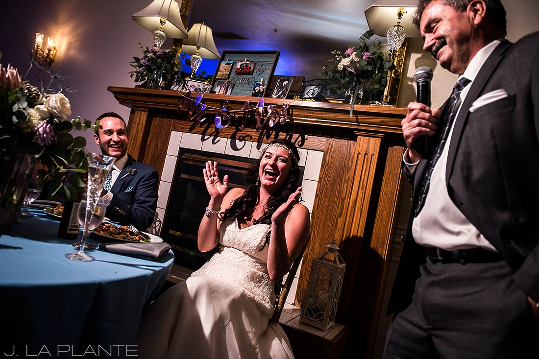 Willow Ridge Manor Wedding | Father of the bride toast | Denver wedding photographer | J La Plante Photo