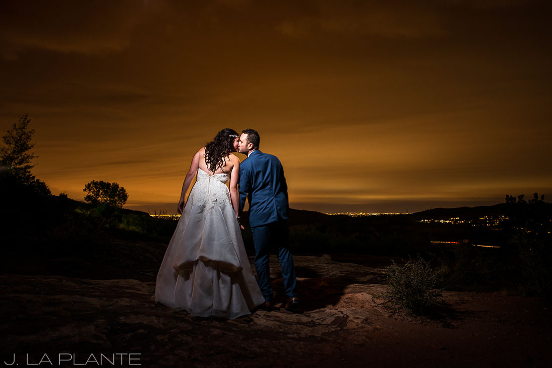 Willow Ridge Manor Wedding | Sunset portrait of bride and groom | Denver wedding photographer | J La Plante Photo