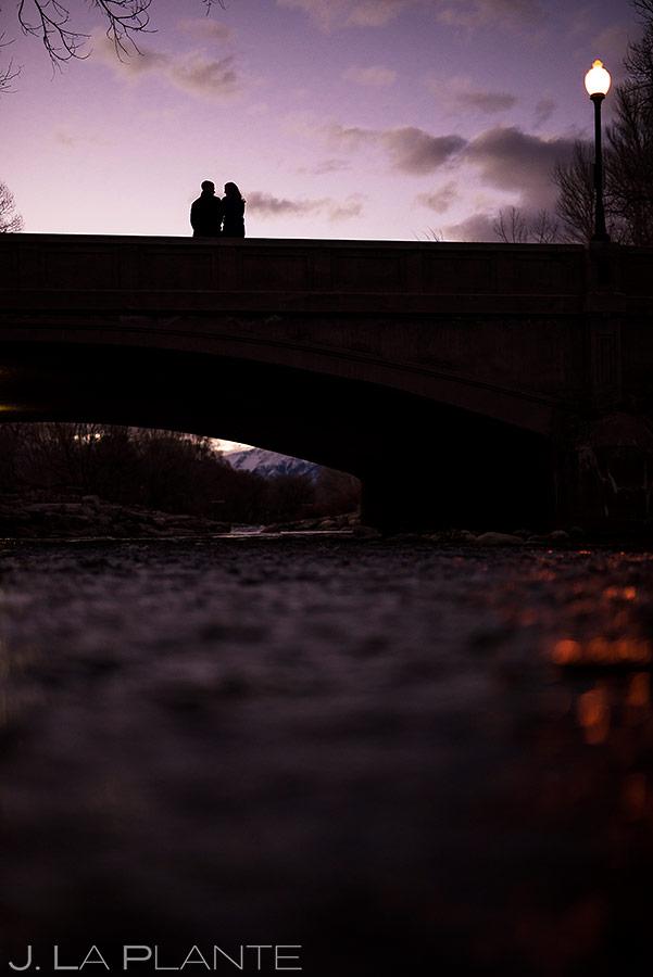 Bride and Groom on Bridge | Salida Colorado Engagement | Colorado Wedding Photographers | J. La Plante Photo
