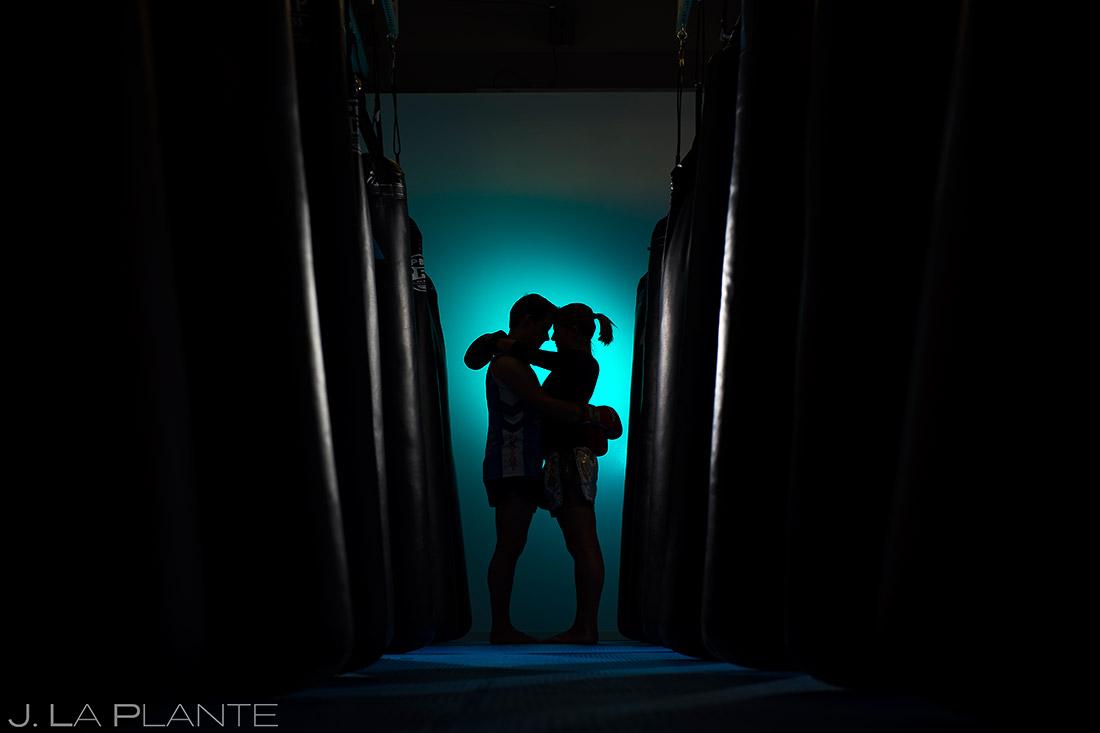 Bride and Groom Boxing | Mixed Martial Arts Engagement | Denver Wedding Photographers | J. La Plante Photo