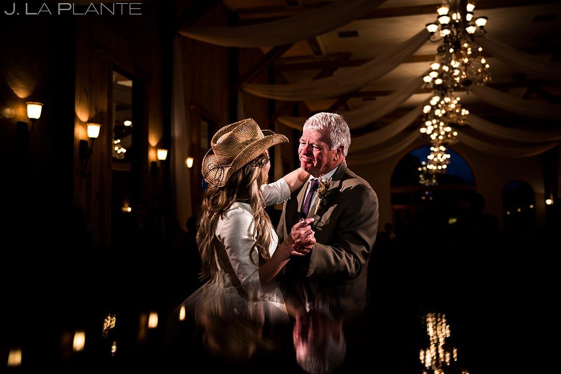 Father Daughter Dance | Crooked Willow Farms Wedding | Colorado Wedding Photographers | J. La Plante Photo
