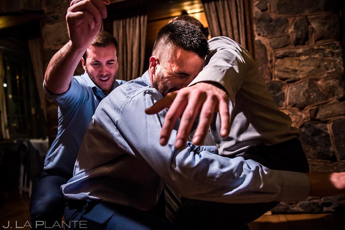 Wedding Guests Getting Down | Boettcher Mansion Wedding | Denver Wedding Photographers | J. La Plante Photo