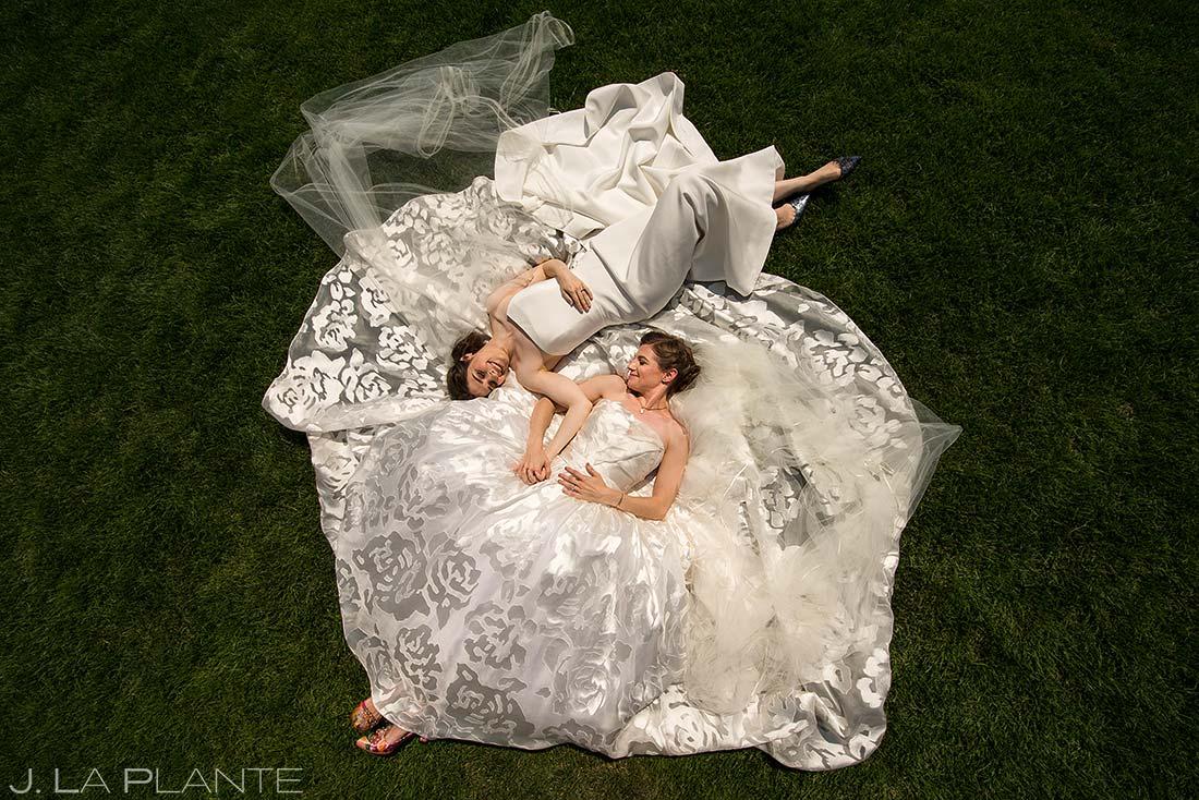 Cool Wedding Dresses | Denver Botanic Gardens Wedding | Denver Wedding Photographers | J. La Plante Photo