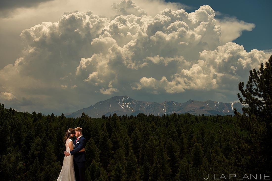 Bride and Groom at Pikes Peak | Edgewood Inn Wedding | Colorado Springs Wedding Photographers | J. La Plante Photo