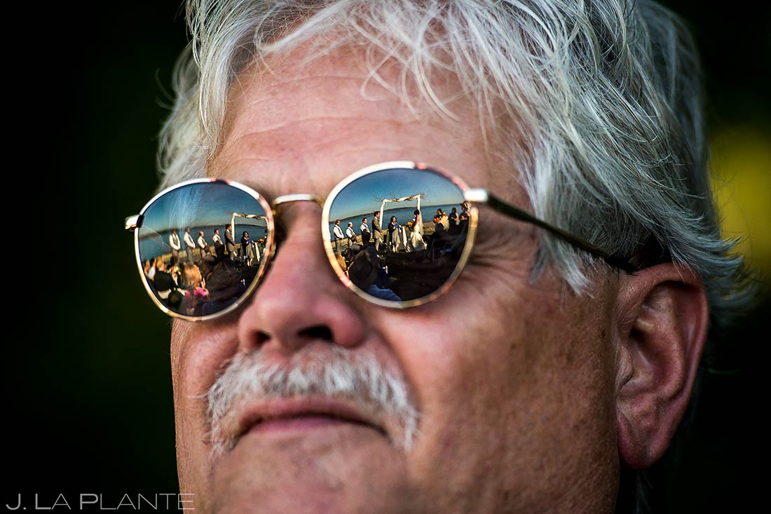 Father Watching Wedding Ceremony | Villa Vashon Wedding | Seattle Destination Wedding Photographers | J. La Plante Photo