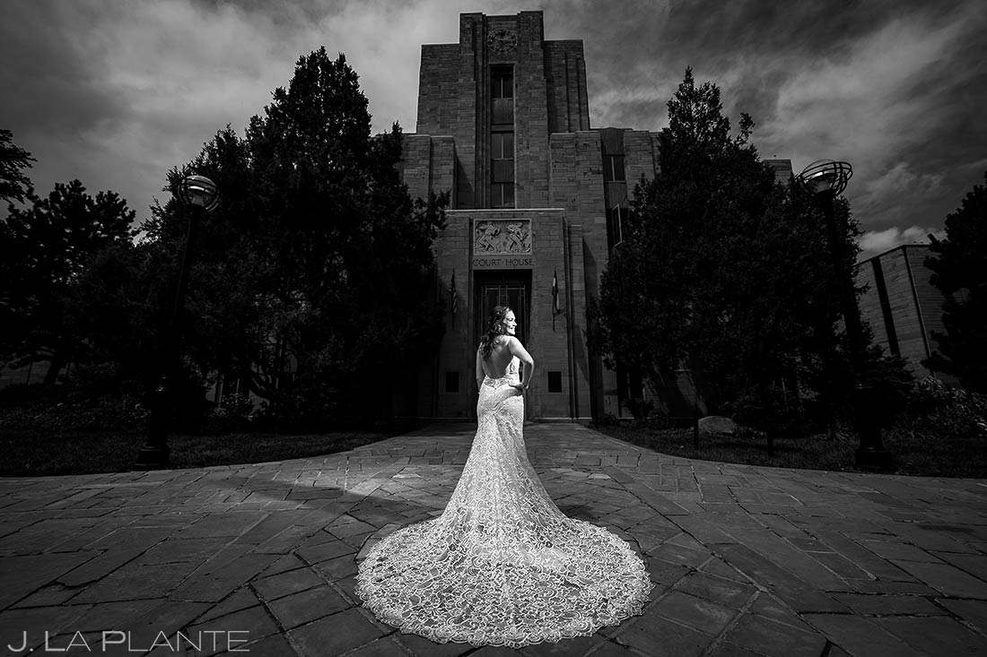 Bride on Pearl Street Boulder | Downtown Boulder Wedding | Boulder Wedding Photographers | J. La Plante Photo