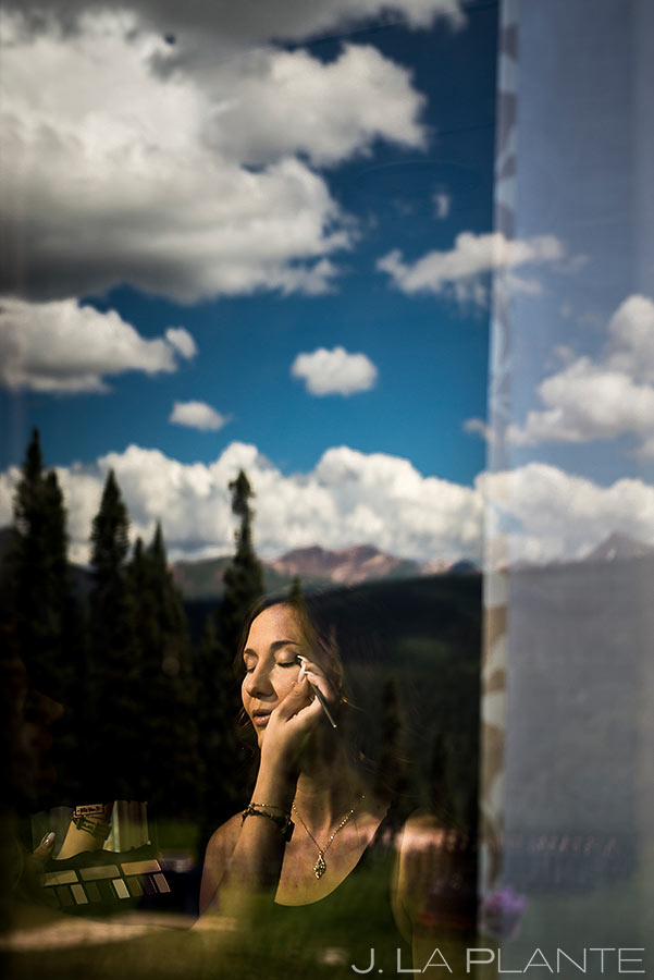 Bride Getting Ready | Purgatory Resort Wedding | Colorado Wedding Photographers | J. La Plante Photo