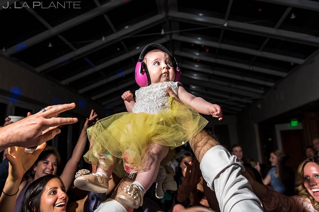 Baby on the Dance Floor at Reception | Sonnenalp Hotel Wedding | Vail Wedding Photographer | J. La Plante Photo