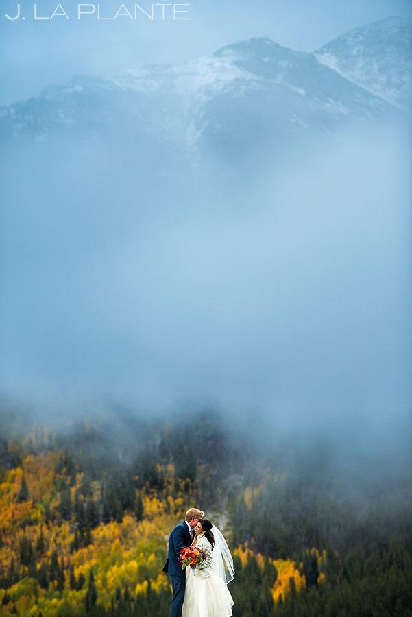Bride and Groom Fall Foliage | Copper Mountain Wedding | Colorado Wedding Photographer | J. La Plante Photo