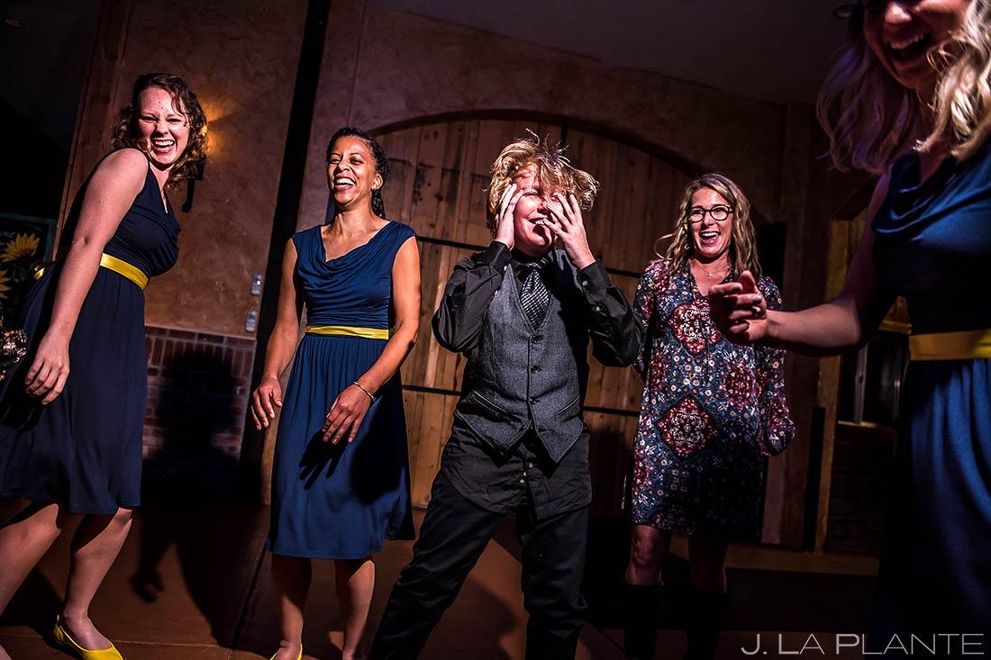 Wedding Guests Getting Down | Crooked Willow Farms Wedding | Colorado Springs Wedding Photographer | J. La Plante Photo