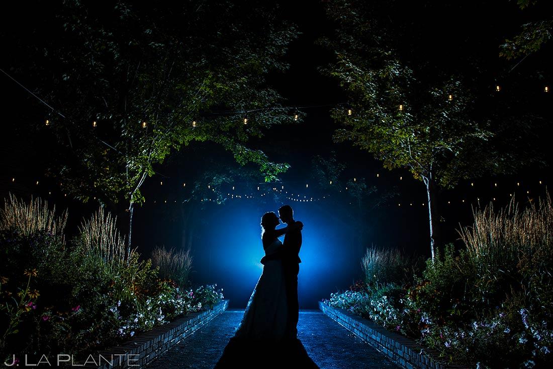 Silhouette Photo of Bride | Crooked Willow Farms Wedding | Colorado Springs Wedding Photographer | J. La Plante Photo