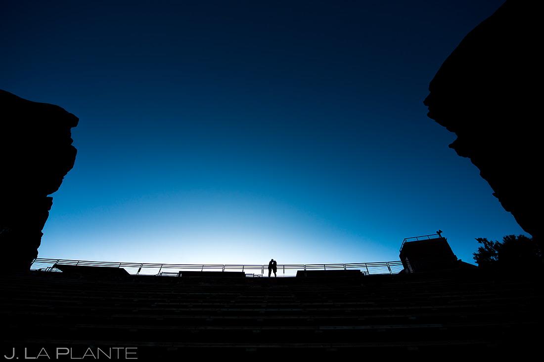 Bride and Groom Silhouette | Red Rocks Engagement | Denver Wedding Photographer | J. La Plante Photo