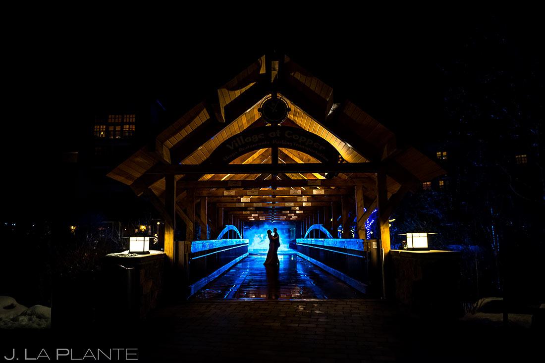 Bride and Groom Silhouette | Copper Mountain Engagement | Colorado Wedding Photographer | J. La Plante Photo
