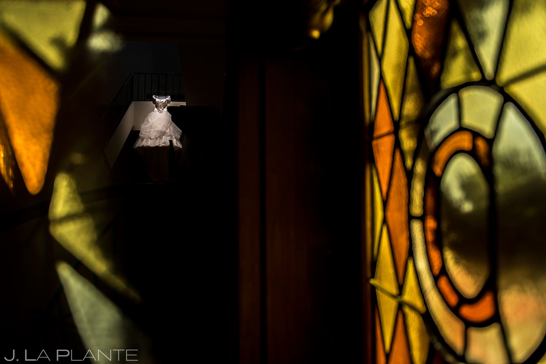 Cool Wedding Dress Detail Photo | Corona Church Denver Wedding | Denver Wedding Photographers | J. La Plante Photo