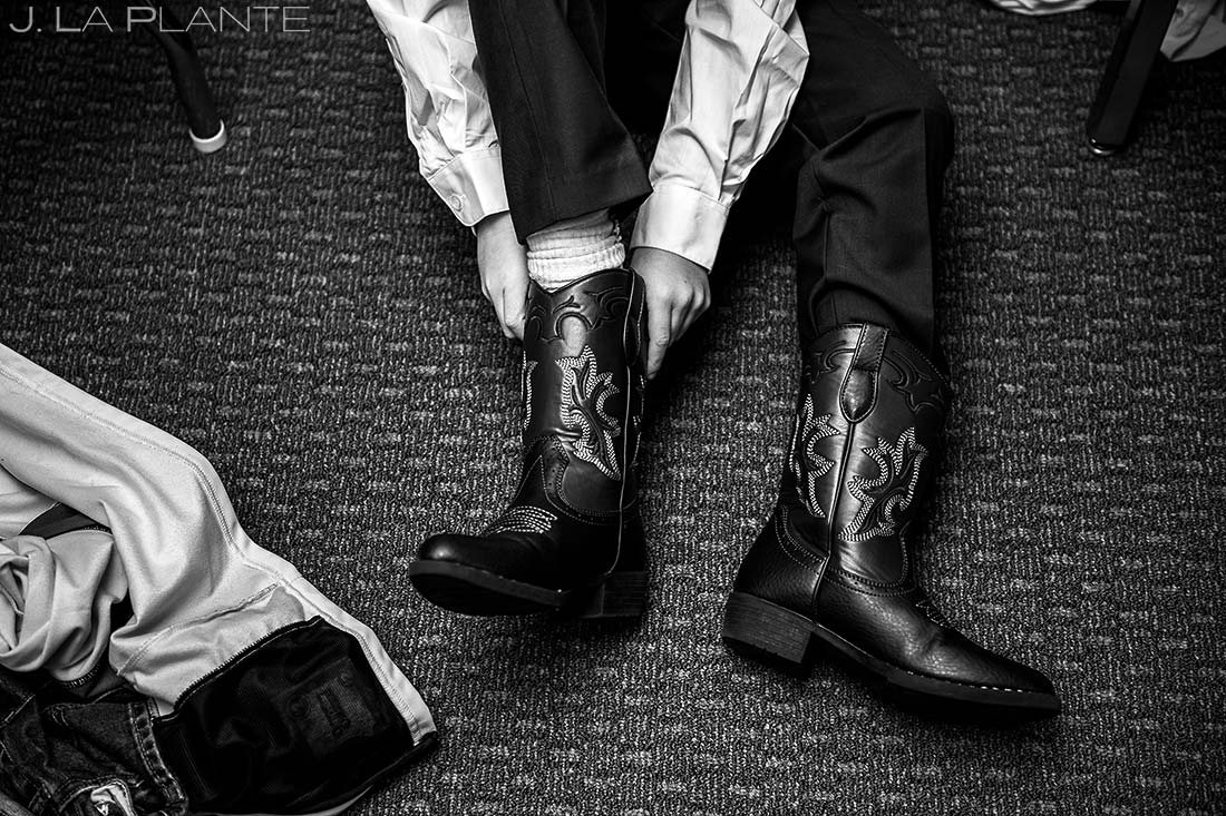 Ring Bearer Getting Ready | Corona Church Denver Wedding | Denver Wedding Photographers | J. La Plante Photo