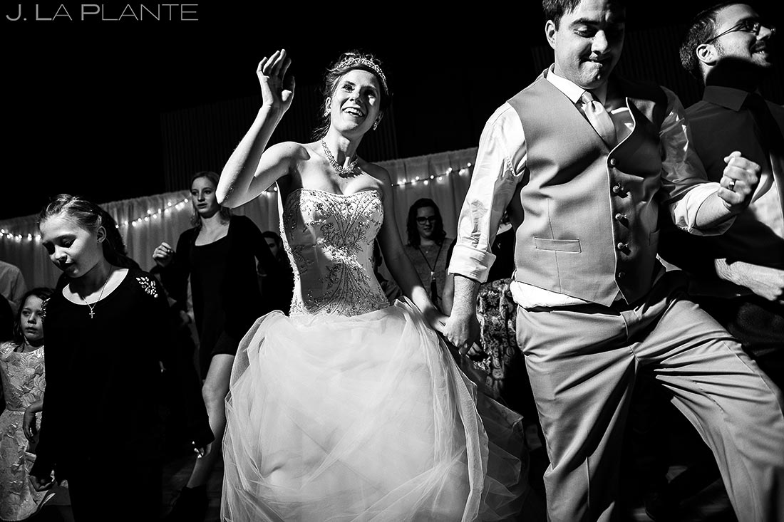 Wedding Reception Dance Party | Corona Church Denver Wedding | Denver Wedding Photographer | J. La Plante Photo