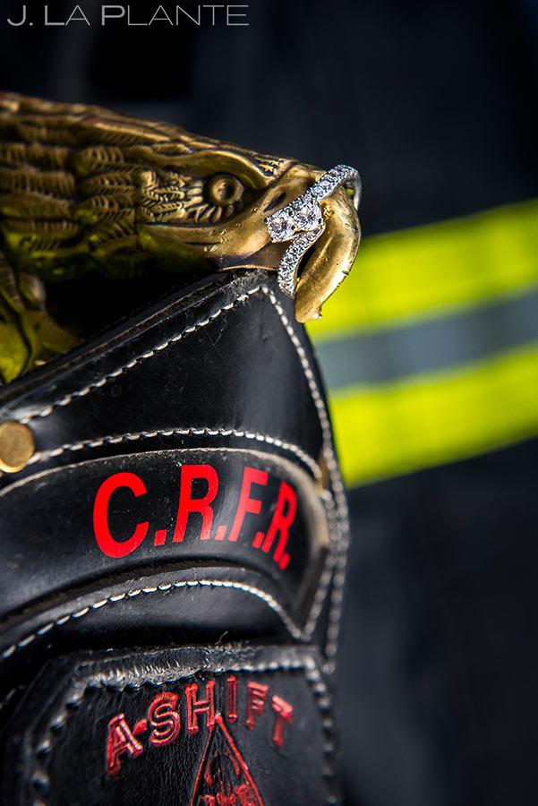 Engagement Ring | Fireman Themed Engagement | Dillon Reservoir Engagement | Colorado Wedding Photographer | J. La Plante Photo