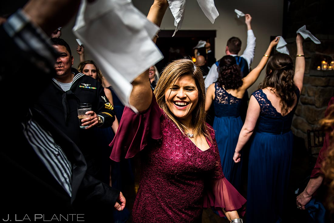 Guest dancing | Estes Park Wedding | Estes Park Wedding Photographer | J La Plante Photo
