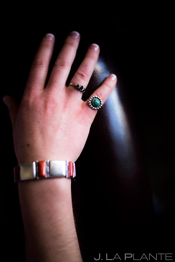 Bride's rings   Evergreen Lake House Wedding   Evergreen Wedding Photographer   J. La Plante Photo