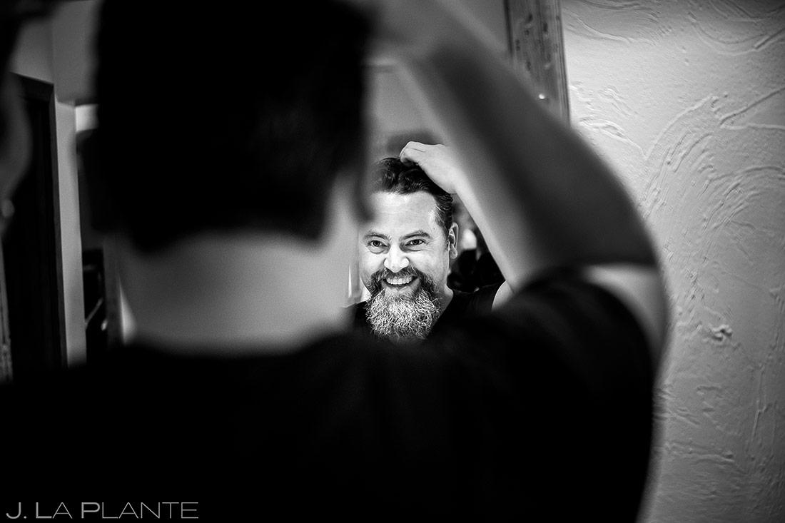 Groom getting ready   Evergreen Lake House Wedding   Evergreen Wedding Photographer   J. La Plante Photo