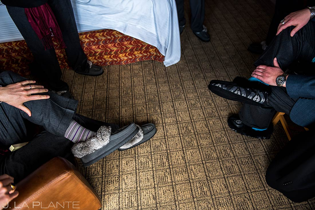 Groomsmen mocassins | Evergreen Lake House Wedding | Evergreen Wedding Photographer | J. La Plante Photo