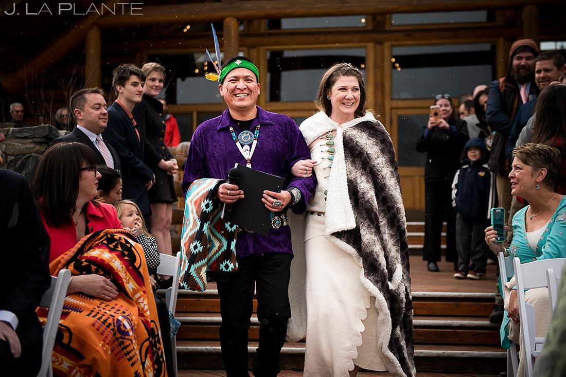 Cherokee wedding ceremony   Evergreen Lake House Wedding   Evergreen Wedding Photographer   J. La Plante Photo