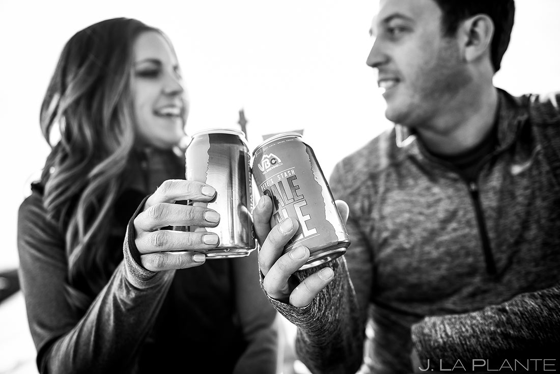 Vail Ski Engagement | Apres ski drinks | Vail wedding photographer | J. La Plante Photo