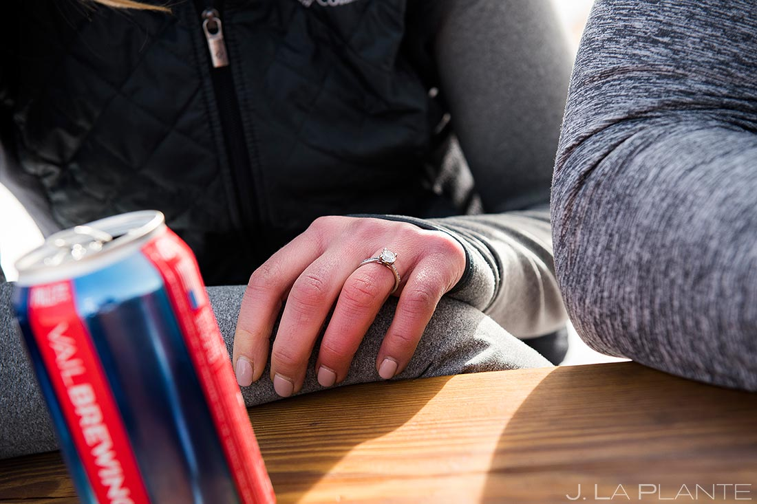 Vail Ski Engagement | Engagement ring | Vail wedding photographer | J. La Plante Photo