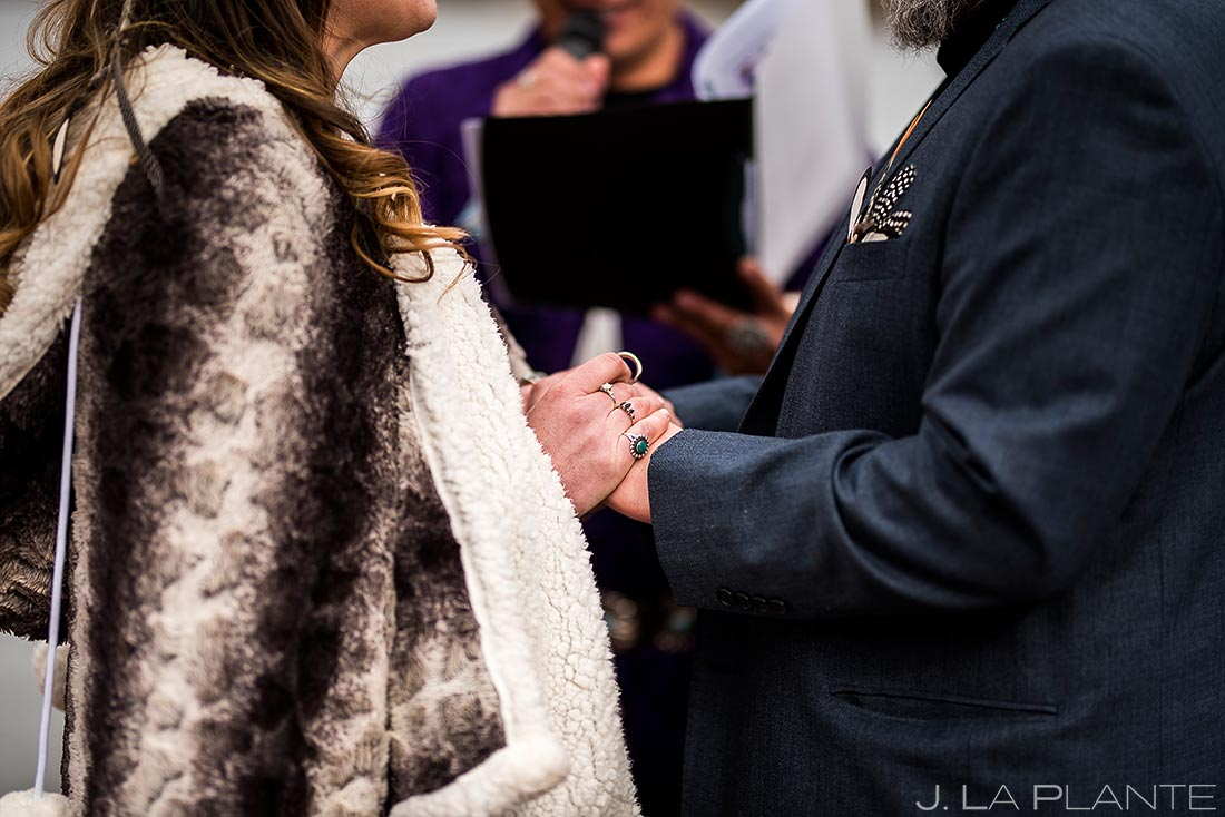Cherokee wedding ceremony | Evergreen Lake House Wedding | Evergreen Wedding Photographer | J. La Plante Photo