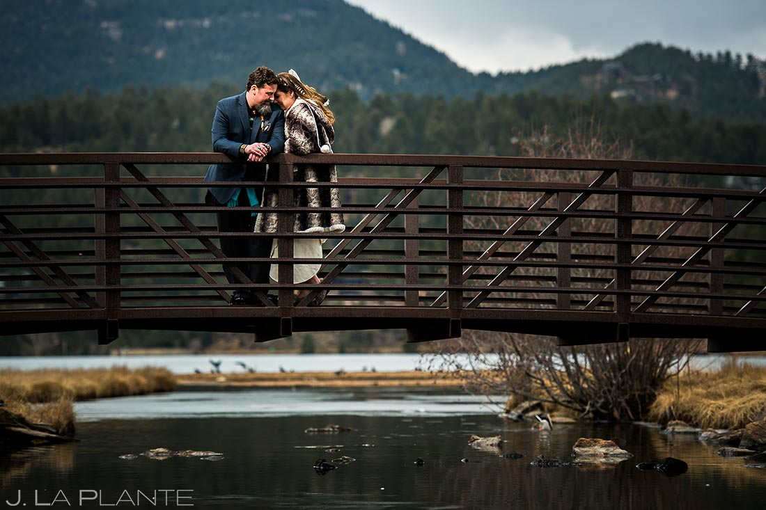 Bride and groom in native clothing | Evergreen Lake House Wedding | Evergreen Wedding Photographer | J. La Plante Photo