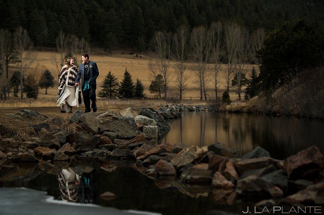 Bride and groom in native clothing   Evergreen Lake House Wedding   Evergreen Wedding Photographer   J. La Plante Photo