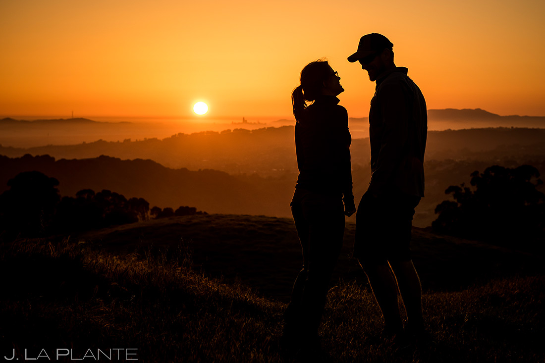 bay area sunset engagement session