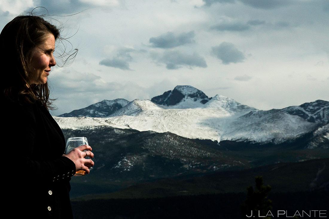 Bride at Rocky Mountain National Park | Rocky Mountain National Park Engagement | Estes Park Wedding Photographer | J. La Plante Photo
