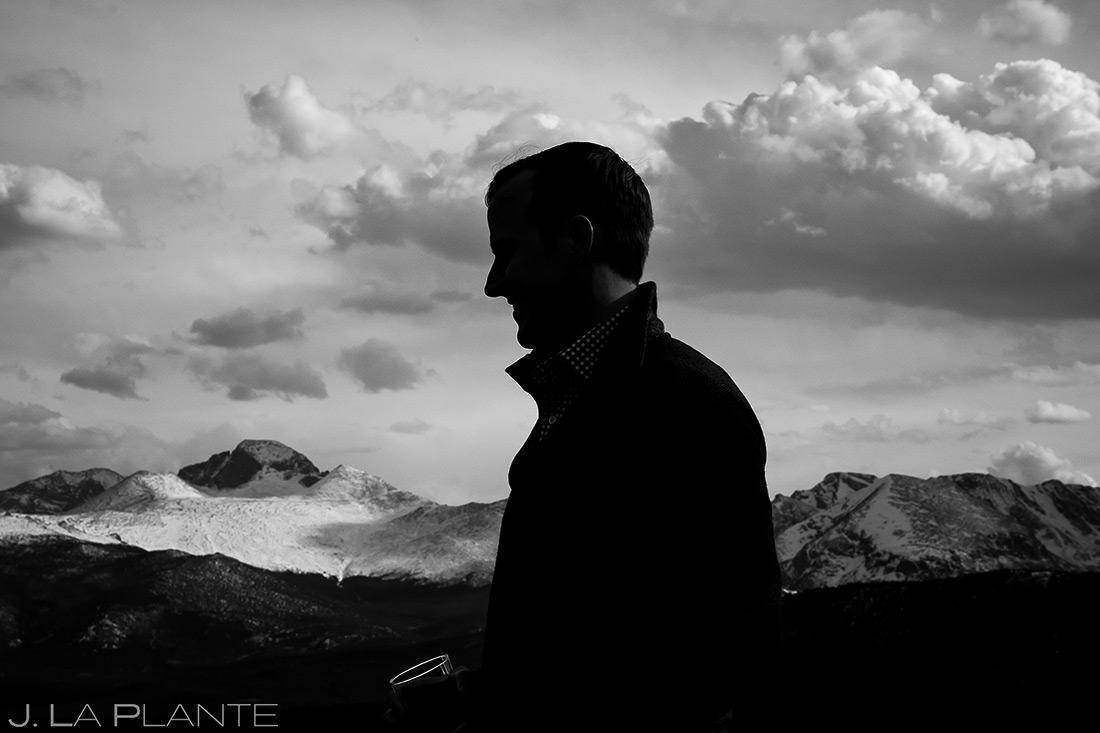Groom at Rocky Mountain National Park | Rocky Mountain National Park Engagement | Estes Park Wedding Photographer | J. La Plante Photo