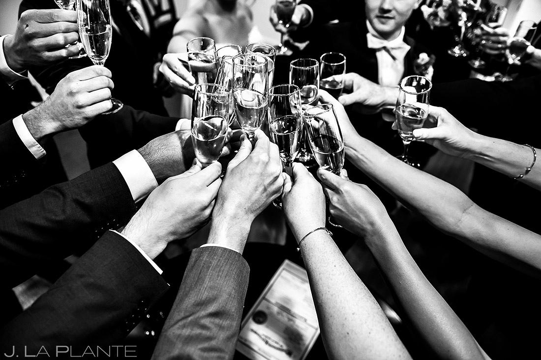 Wedding Party Champagne Toast | Wedgewood Boulder Creek Wedding | Boulder Wedding Photographer | J. La Plante Photo