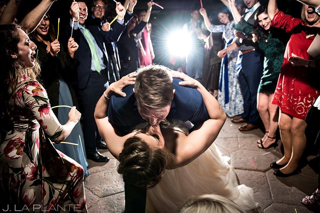 Bride and Groom Glow Stick Send Off | Wedgewood Boulder Creek Wedding | Boulder Wedding Photographer | J. La Plante Photo